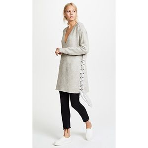 Free People Heart It Oversized Lace Up Sweater